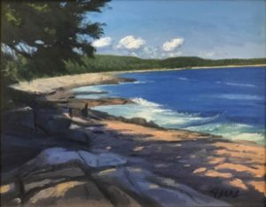 KEVIN BEERS Schoodic Beach oil on canvas, 11 x 14 inches $1800