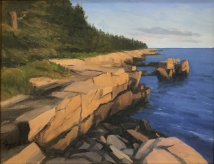 KEVIN BEERS Schoodic Drive, oil on canvas, 11 x 14