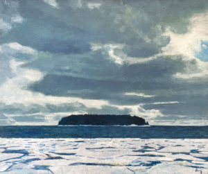TOM CURRY Mid-Winter oil on panel, 36 x 43 inches SOLD