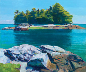 TOM CURRY Med-Tide oil on panel, 36 x 43 inches $14,000