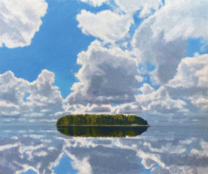 TOM CURRY Still Water oil on panel, 36 x 43 inches $14,000
