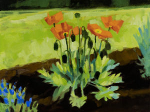 PHILIP FREY Dancing Poppies oil on canvas, 12 x 16 inches $1600