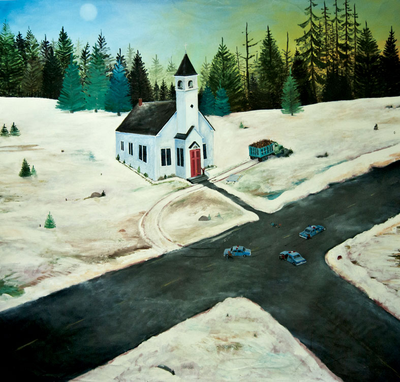 ED NADEAU The Stolen Cord, 1998, oil on linen, 68 x 72 inches