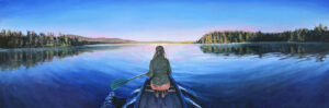 JESSICA LEE IVES Reclaim Reverence from Adventure oil on panel, 20 x 60 inches $5000