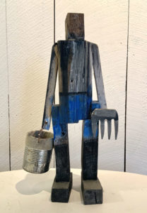 MATT BARTER Worm Digger Son reclaimed wood, 17 x 9 x 5 inches $1800