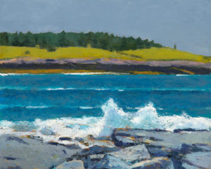 TOM CURRY Heavy Weather oil on panel, 16 x 20 inches $3400