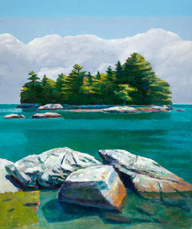 TOM CURRY High Tide oil on panel, 43 x 36 inches