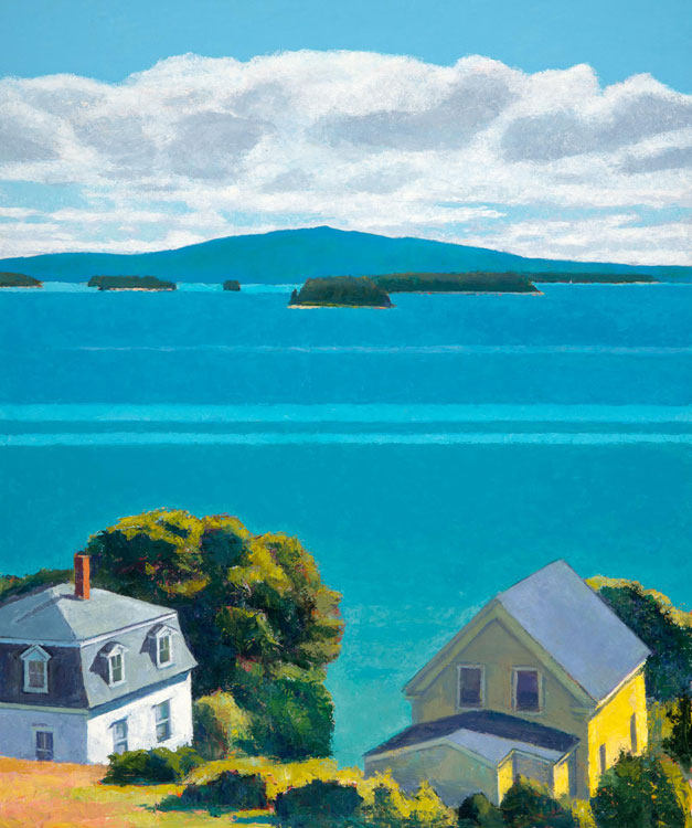 TOM CURRY Isle au Haut oil on panel, 43 x 36 inches