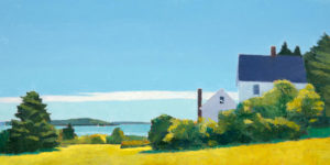 TOM CURRY Later Summer oil on panel, 20 x 36 inches SOLD
