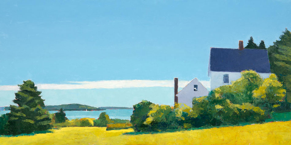 TOM CURRY Later Summer oil on panel, 20 x 36 inches
