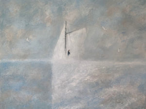 WILLIAM IRVINE Early Morning Sail oil on canvas, 30 x 40 inches $7500