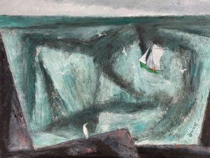 WILLIAM IRVINE Green Bay oil on canvas, 30 x 40 Inches  $7500