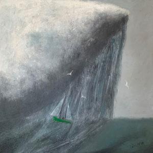 WILLIAM IRVINE Under the Rain Cloud oil on canvas, 36 x 36 $ inches $7500