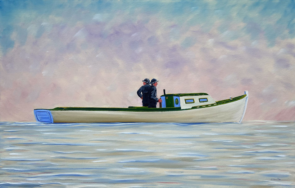 JOHN NEVILLE Searching in the Fog oil on canvas, 24 x 36 inches