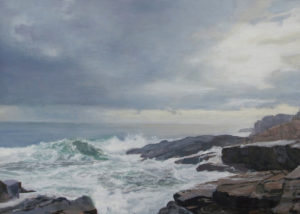JUDY BELASCO Maine Coast oil on panel, 9 x 13 inches SOLD