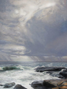 JUDY BELASCO Passing Storm, Schoodic oil on canvas, 36 x 24 inches $6400