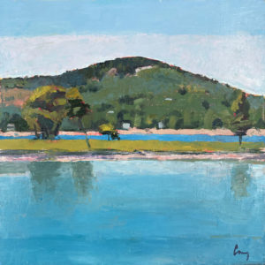 TOM CURRY Blue Hill Mountain, Low Tide oil on panel, 12 x 12 inches $1400