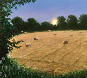 JOSEPH KEIFFER Harvest Moon oil on canvas, 18 x 20 inches $3500