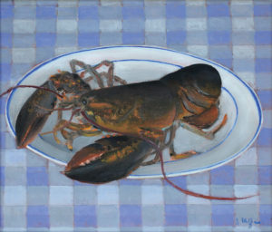 JOSEPH KEIFFER Homarus Americanus oil on canvas, 10 x 12 inches $1400