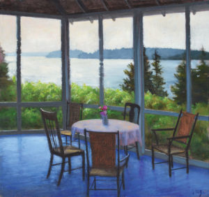 JOSEPH KEIFFER Porch Morning oil on canvas, 15 x 16 inches $2000