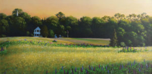 JOSEPH KEIFFER Sommesville Meadow oil on canvas, 15 x 30 inches $3850