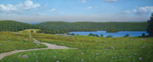 JOSEPH KEIFFER The Blueberry Barren, Sedgwick oil on canvas, 20 x50 inches $6000