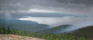 JOSEPH KEIFFER Weather, Frenchman's Bay oil on canvas, 12 x 20 inches $2800