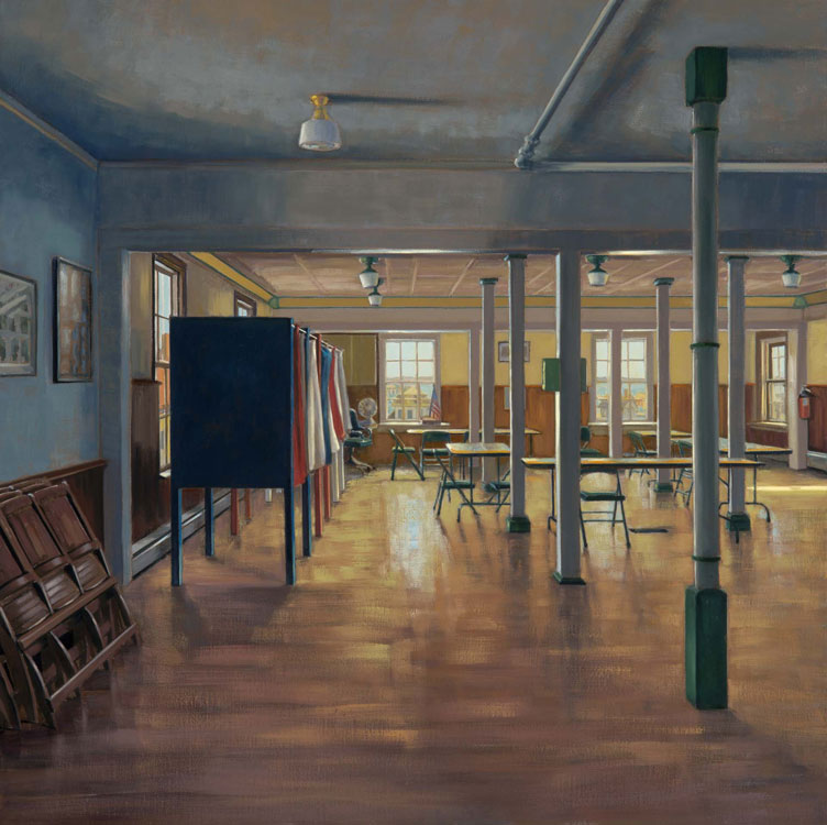 ALISON RECTOR Election Eve oil on linen, 24 x 24 inches