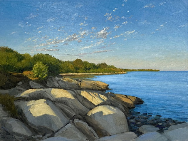 KEVIN BEERS Clark Point oil on board, 18 x 24 inches