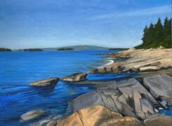 KEVIN BEERS Schoodic Loop oil on board, 18 x 24 inches
