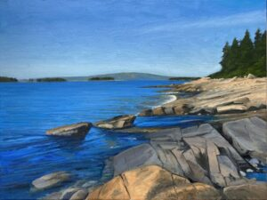 KEVIN BEERS Schoodic Loop oil on canvas, 18 x 24 inches $3800