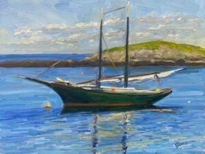 KEVIN BEERS Schooner oil on panel, 12 x 16 inches $2200