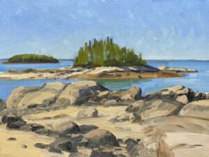 KEVIN BEERS Stonington Beach oil on board, 12 x 16 inches $2200