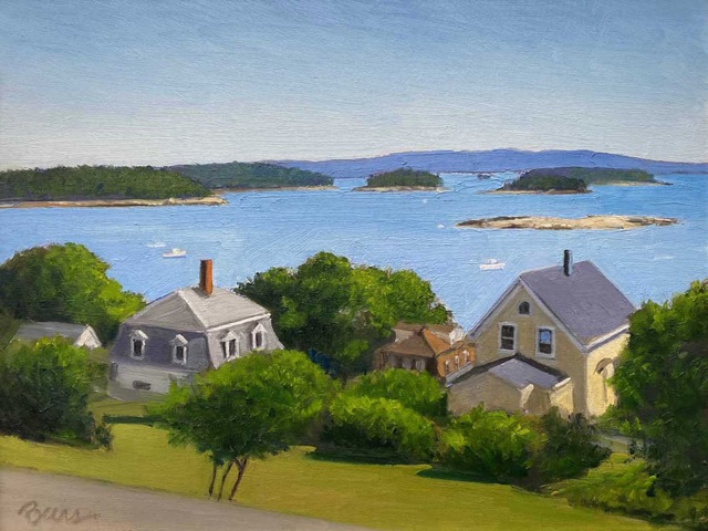KEVIN BEERS Stonington View oil on board, 12 x 16 inches