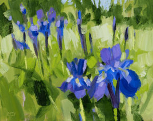 PHILIP FREY Blue Iris oil on canvas, 8 x 10 inches SOLD