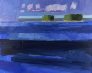 PHILIP FREY Approaching Rain, Deep Waters oil on canvas, 24 x 30 inches $3,800