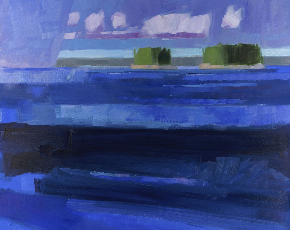 PHILIP FREY Approaching Rain, Deep Waters oil on canvas, 24 x 30 inches