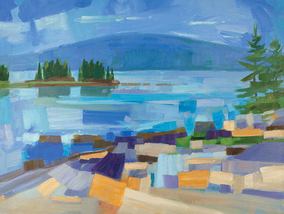 PHILIP FREY Coastal Connection oil on canvas, 30 x 40 inches