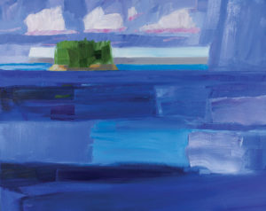 PHILIP FREY Departing Rain, Deep Waters oil on canvas, 24 x 30 inches $3800