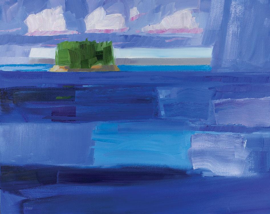 PHILIP FREY Departing Rain, Deep Waters oil on canvas, 24 x 30 inches