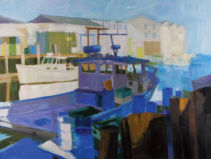 PHILIP FREY Luminous Harbor oil on canvas, 36 x 48 inches $8000