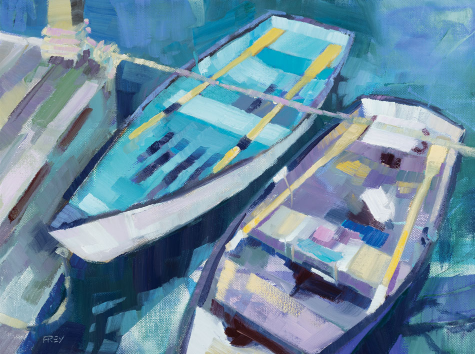PHILIP FREY Ready for Anything oil on canvas, 12 x 16 inches