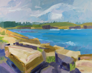 PHILIP FREY Surf and Stone oil on canvas, 24 x 30 inches $3800