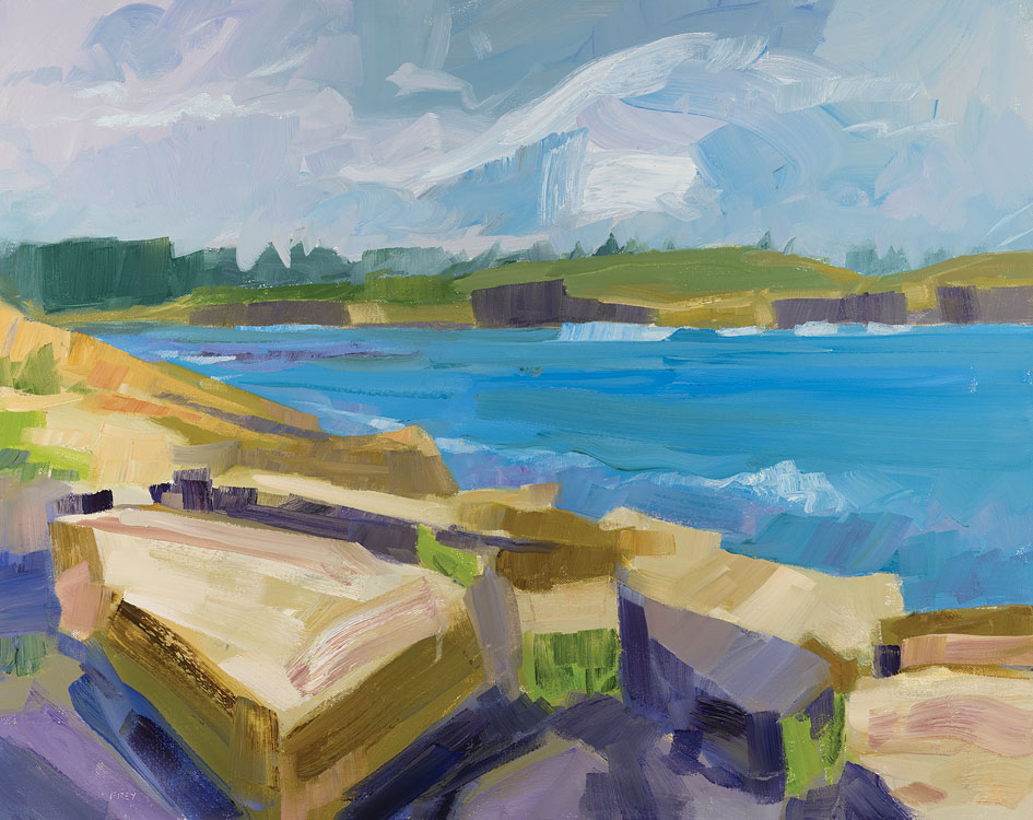PHILIP FREY Surf and Stone oil on canvas, 24 x 30 inches