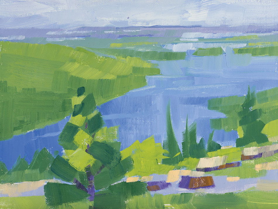 PHILIP FREY The Greenness of Green oil on canvas, 9 x 12 inches