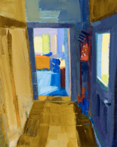 PHILIP FREY View of a Room oil on canvas, 10 x 8 inches $900