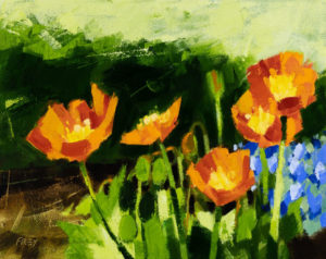 PHILIP FREY Poppies oil on canvas, 8 x 10 inches $900