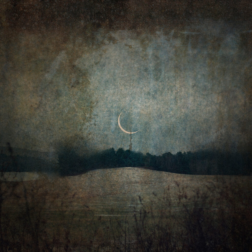 LILIAN DAY THORPE Meadow Moon photomontage, edition of 25, 10 x 10 inches