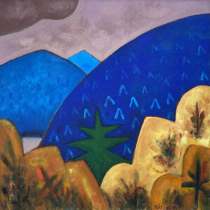 PHILIP BARTER Mt. Bigalow acrylic on board, 30 x 30 inches $4400