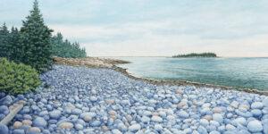 JANICE ANTHONY Schoodic Shore acrylic on linen, 19 x 38 inches $7500